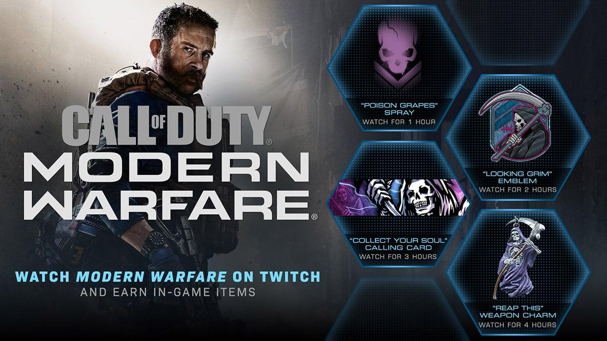 cod-call-of-duty-modern-warfare-activer-bonus-twitch-skin-drop-comment-guide-vignette