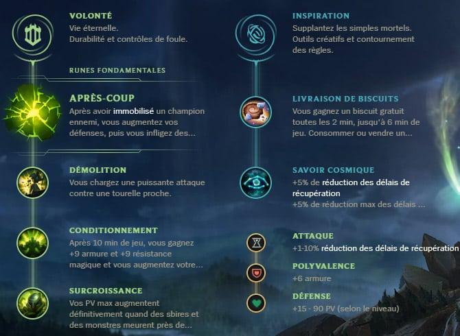 Guide LoL Blitzcrank Support S10 Runes