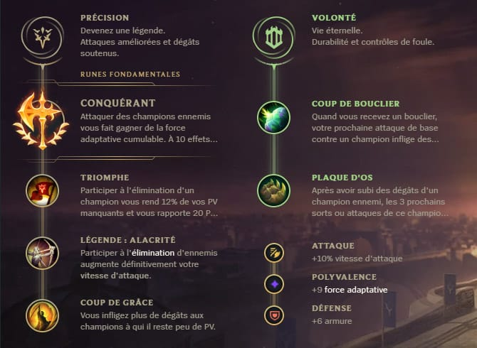 Guide LoL Camille Top S10 Runes