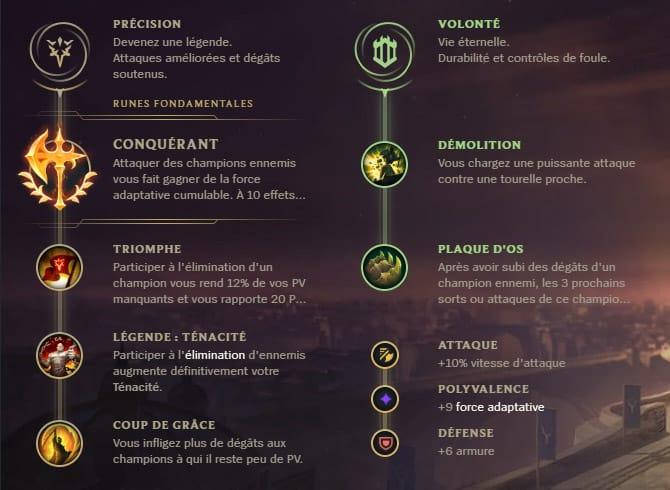 Guide LoL Darius Top S10 Runes
