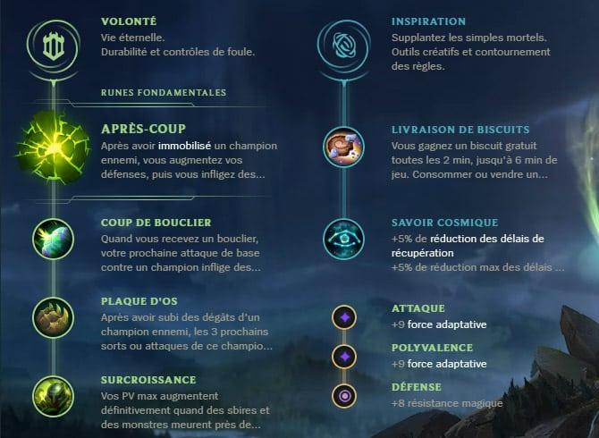 Guide LoL Galio Support S10 Runes