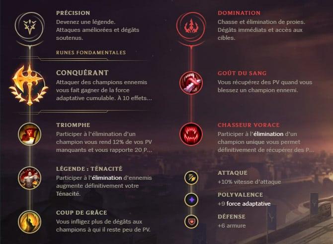 Guide LoL Kalista Bot S10 Runes