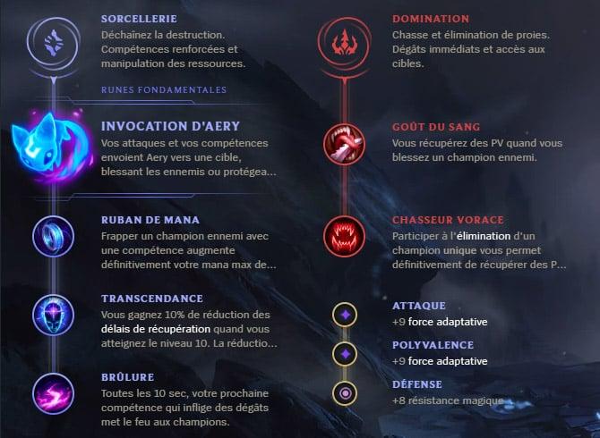 Guide LoL Orianna Mid S10 Runes
