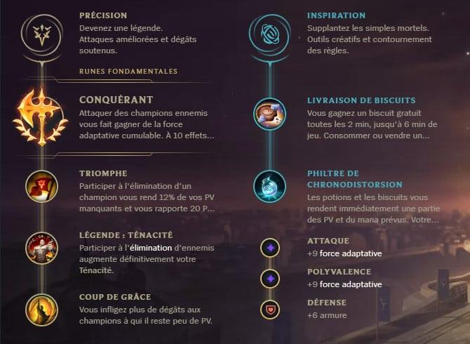 Guide LoL Pantheon Top S10 Runes