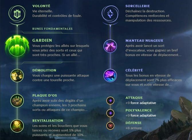 Guide LoL Rakan Support S10 Runes