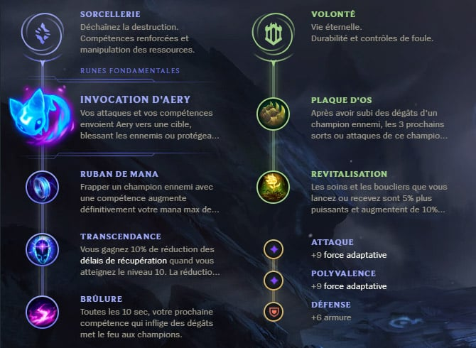 Guide LoL Senna Support S10 Runes