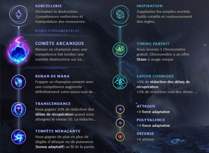 Guide LoL Veigar Mid S10 Runes
