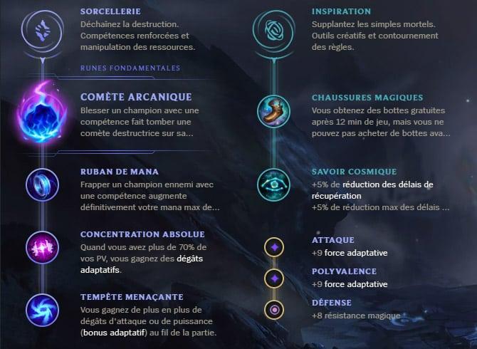 Guide LoL Xerath Mid S10 Runes