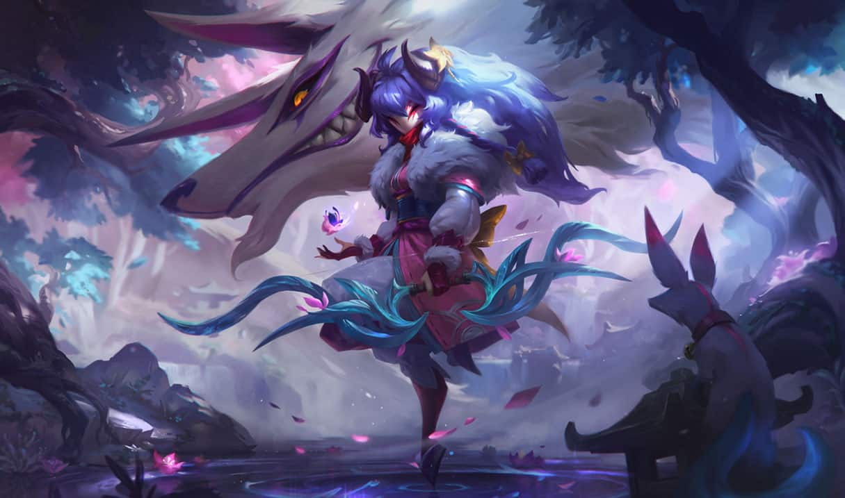 lol-skin-kindred-de-la-fleur-spirituelle-splash