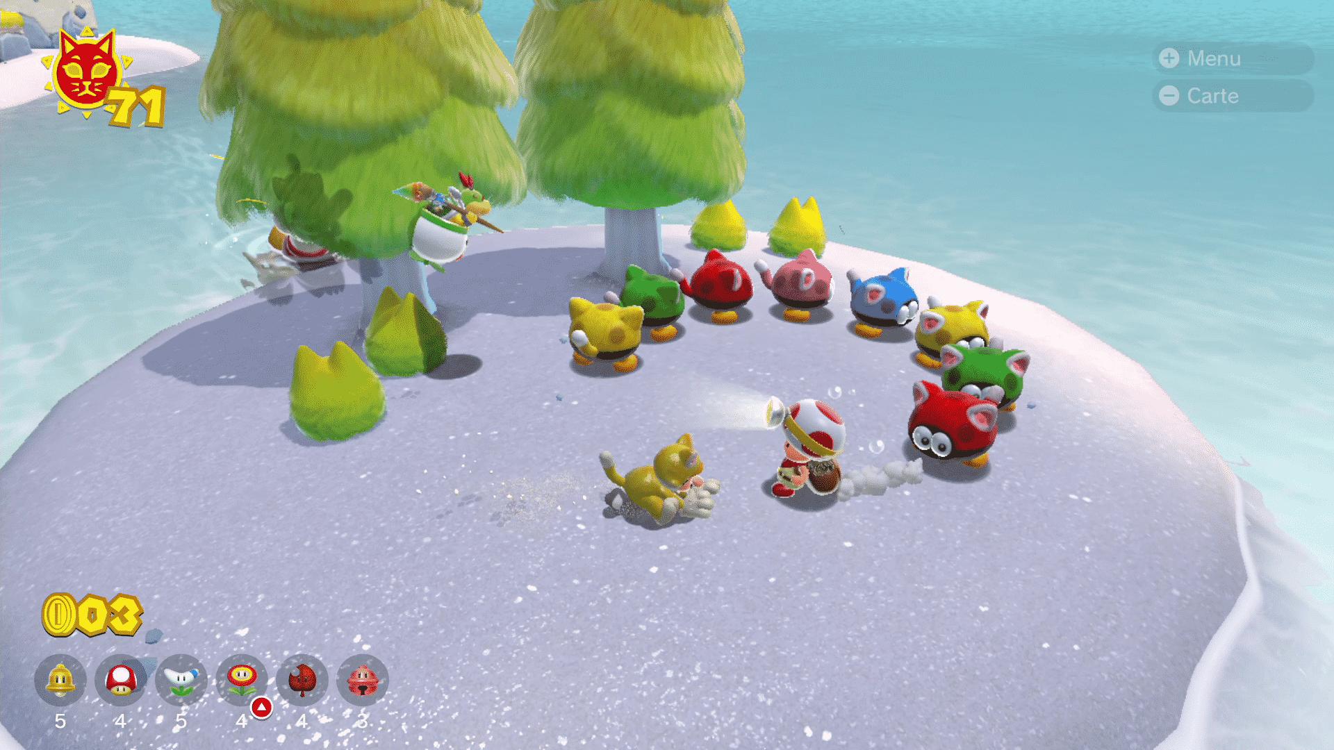 Où sont les Toads de la Bridage Toad dans Bowser's Fury ?