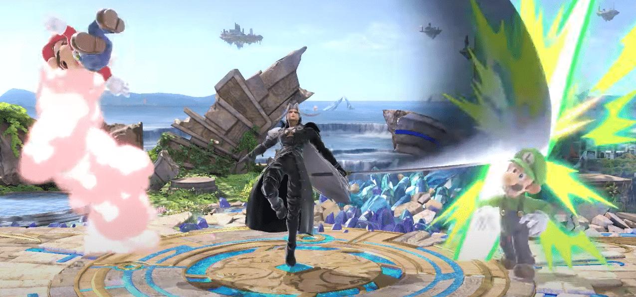 Séphiroth dans Smash Bros - Up Smash