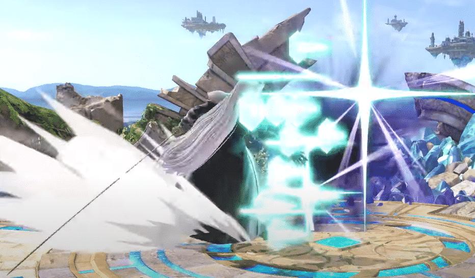 Séphiroth dans Super Smash - Down B / Contre