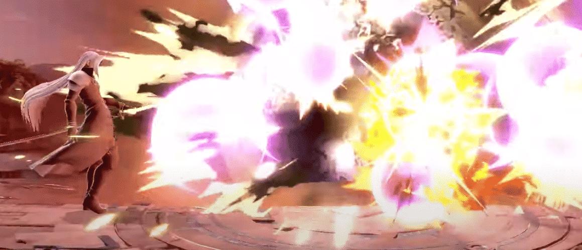 Séphiroth dans Super Smash - Neutral B