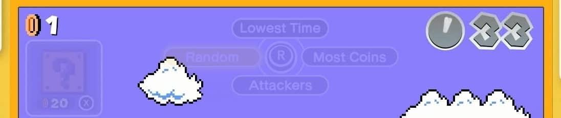 Super Mario Bros 35 Menu