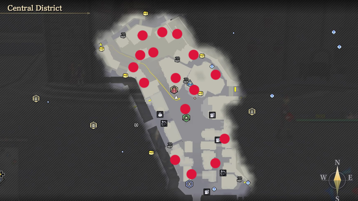 ys-ix-monstrum-nox-emplacements-petales-fleur-bleus-zone-centrale
