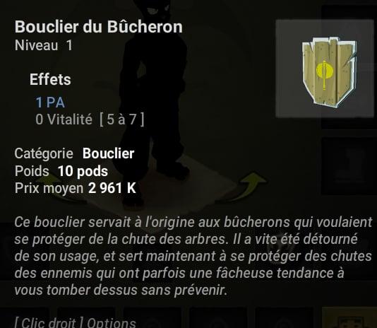 Temporis bouclier bucheron