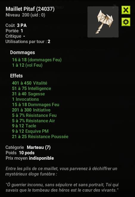 Dofus 2.58 - Maillet Pitaf