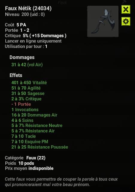 Dofus 2.58 - Faux Nétik