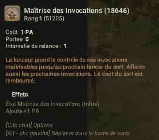 Dofus 2.58 - Maîtrise des Invocations