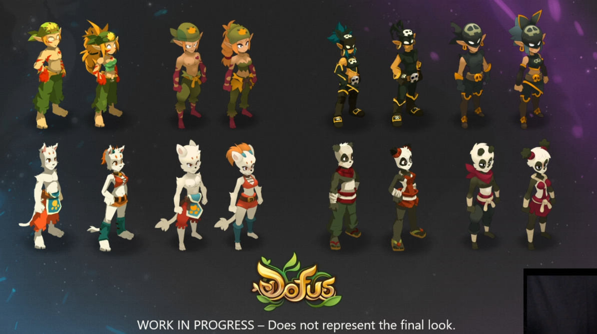 Dofus 2 Unity - Apparences des personnages