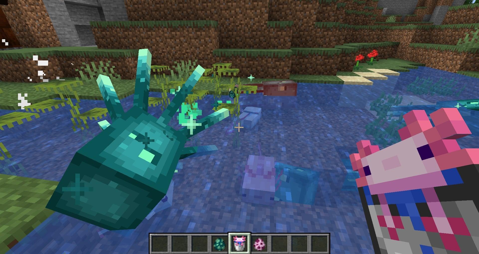 Minecraft 1.17 - Axolotl et Glow Squid
