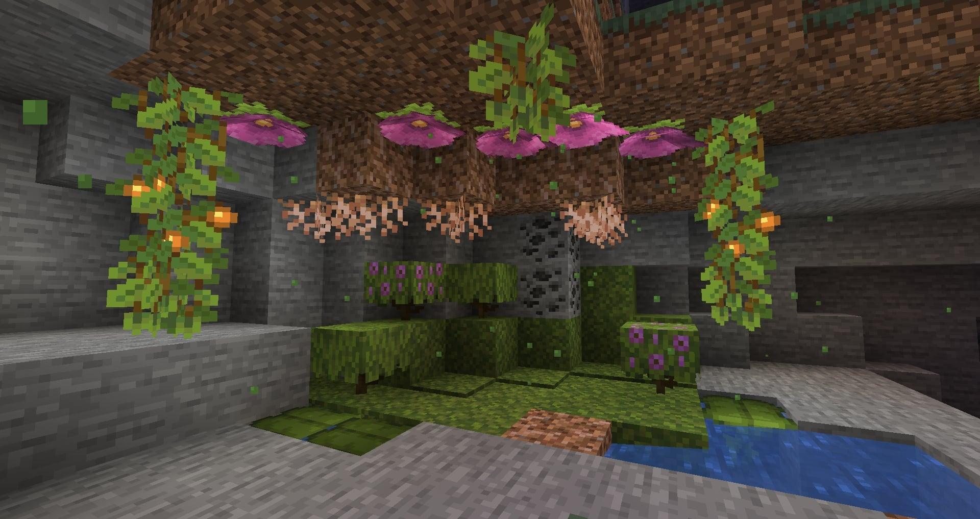 Minecraft 1.17 - Cavernes luxuriantes