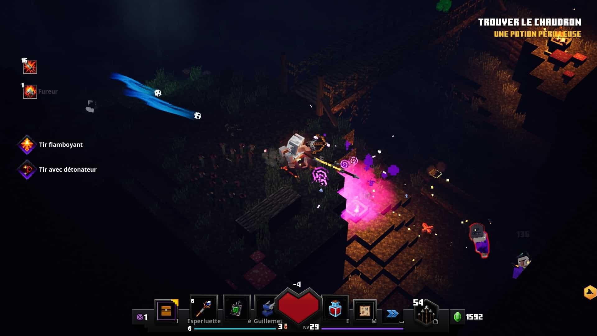minecraft-dungeons-combat-en-hauteur-avantage-de-terrain